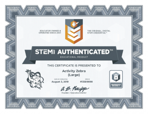 Activity Zebra_Large_STEM.org Authenticated_Certificate