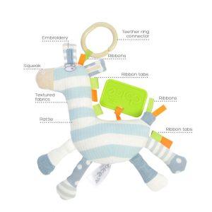 actividad cebra bebé juguete tallo ciencia sensorial