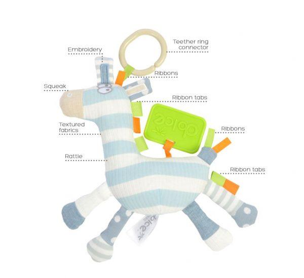 activiteit zebra baby speelgoed stam sensorische wetenschap