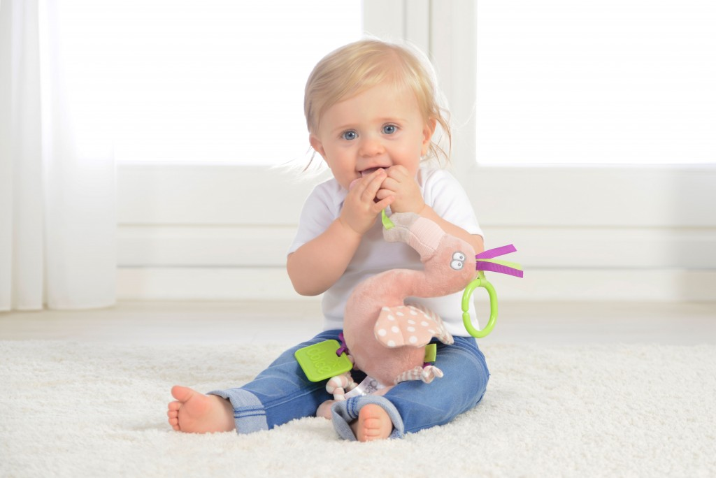 flamingo toy stem authenticated baby