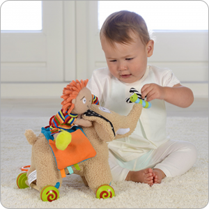 pull along elephant stem toy